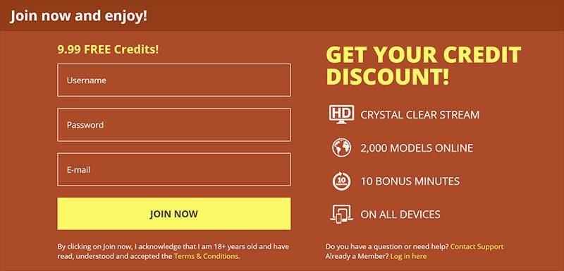 maturescam.com free credits