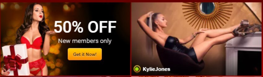 50& discount on Live Jasmin for new members